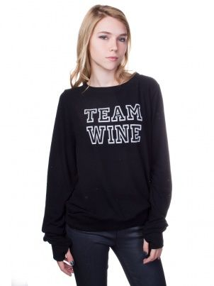 I totally want this Team Wine pullover by God Save LA via @Kitson