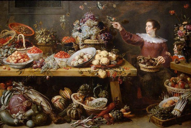 Натюрморт с фруктами и овощами (1600-1650) (Пасадена, Музей Нортона Симона)