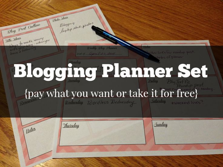 Pay What You Want Blog Planning Printables from Life With Joanne