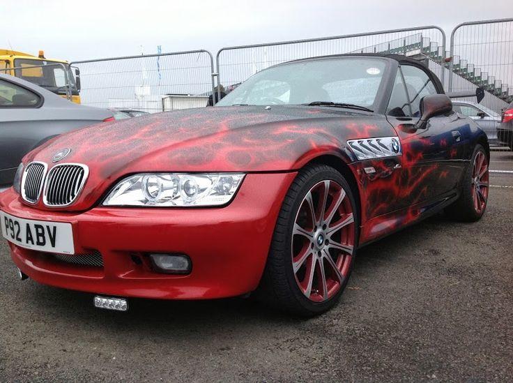 BMW Z3 with wild paint job