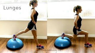 Bosu ball exercises very hard but good for balance and core