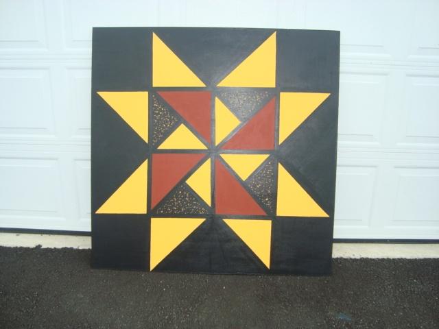 4' x 4' barn quilt Martha Washington Star pattern