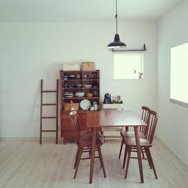 kajiさんの、漆喰,後藤照明,シンプル,unico,リノベーション,ダイニング,無垢フローリング,リビング,のお部屋写真