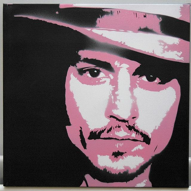 Johnny Depp Stencil by Down Right Punch, via Flickr