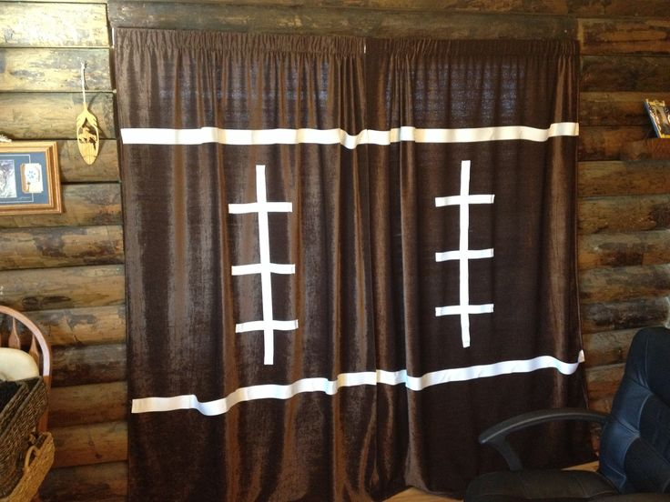 Nursery football curtains