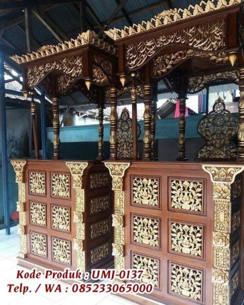 Mimbar Masjid Ukiran Mebel Jepara Umj 0137