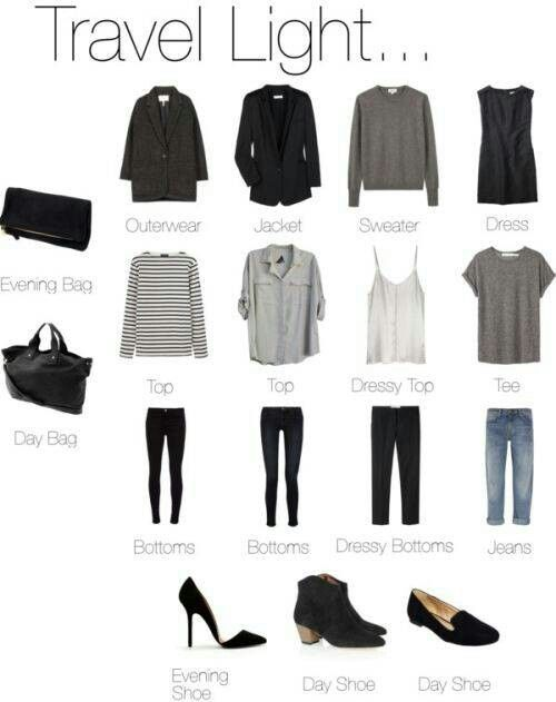 Easy outfits and packing!