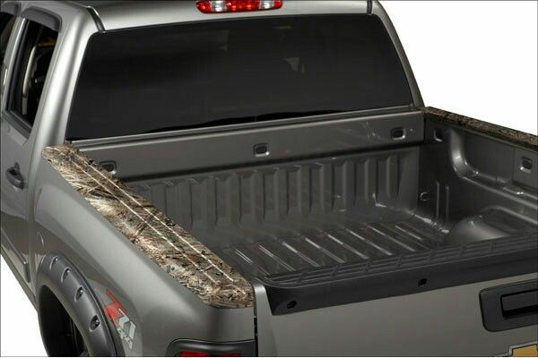 Camo truck bed rail caps