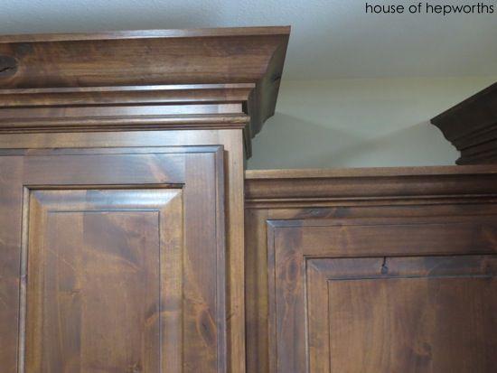 Knotty Alder Cabinets With Dark Stain Kitchen