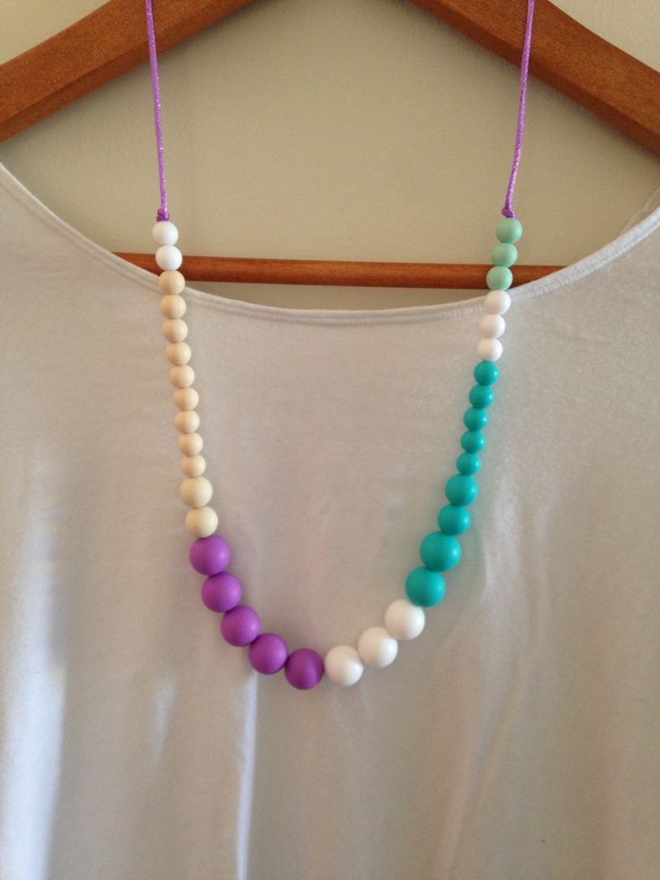 Silicone Necklace. Designed specifically for mums with babies that love to pull & chew on their jewelry.  Made from food grade silicone, without all of the nasties. Easy to clean, easy to wear & almost impossible to break! You do not need to have a baby to wear these babies!