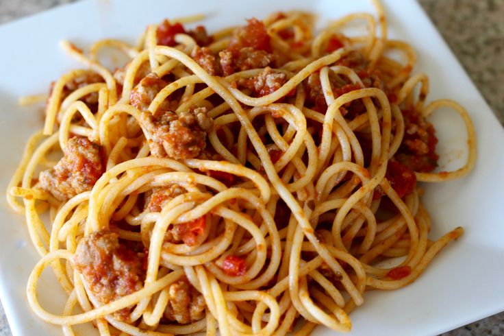 Turkey Arrabbiata Spaghetti
