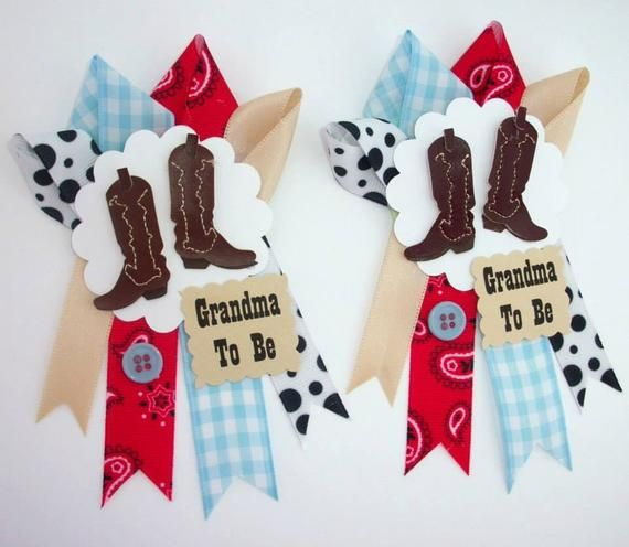 Cowboy Western Grandma S Baby Shower Corsage Small Version To