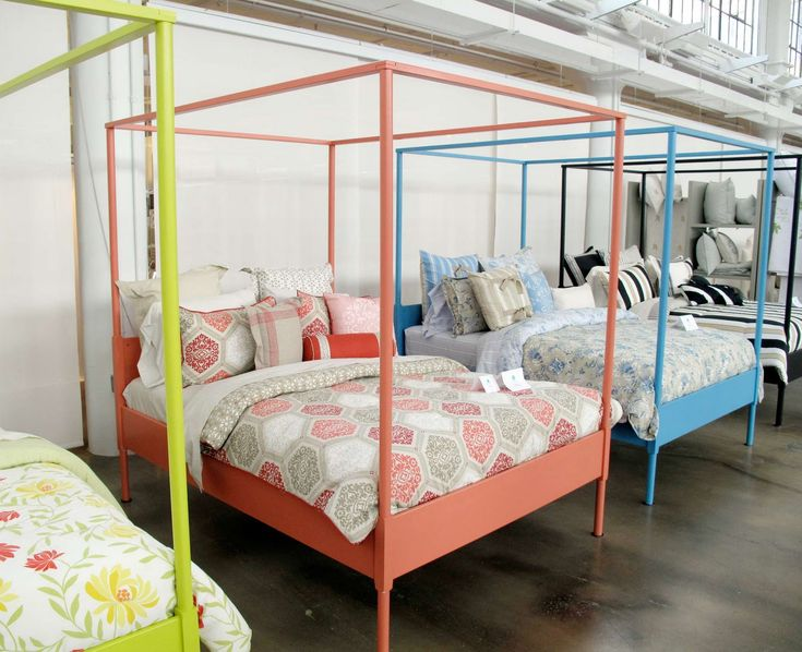 Ikea 39 S Edland Bed Fram Painted In A Rainbow Of Hues By