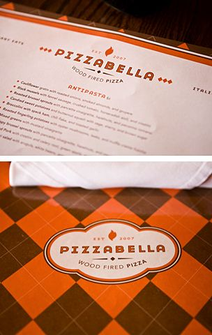 Application of Pizzabella Logo