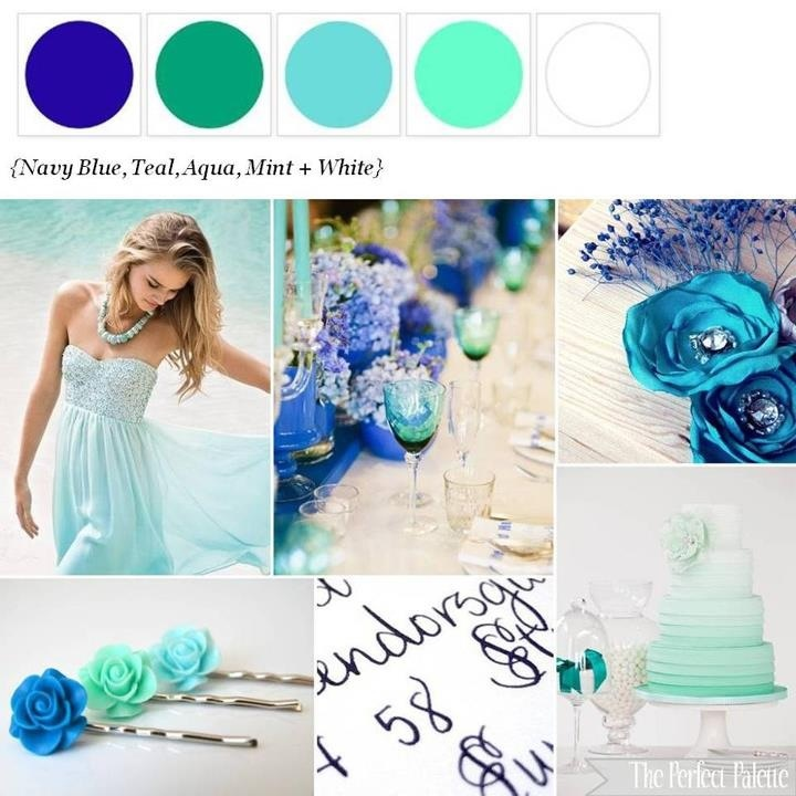 Beautiful colors for a beach wedding <3...blends with the water