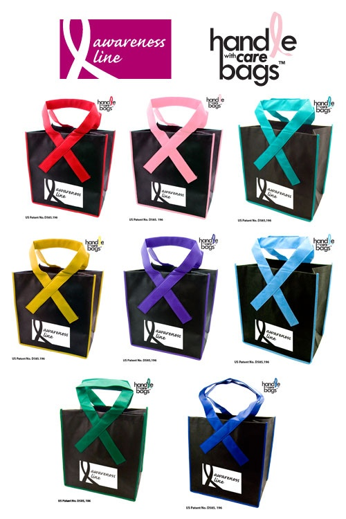Cancer Awareness Bags - These are great for Relay For Life fundraisers.