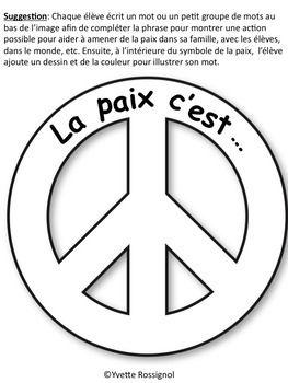 Le jour du souvenir (Comptine et activités pour la paix)