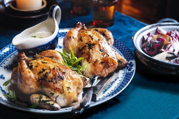 Roast chicken with tarragon and mustard cream @recipesfornet