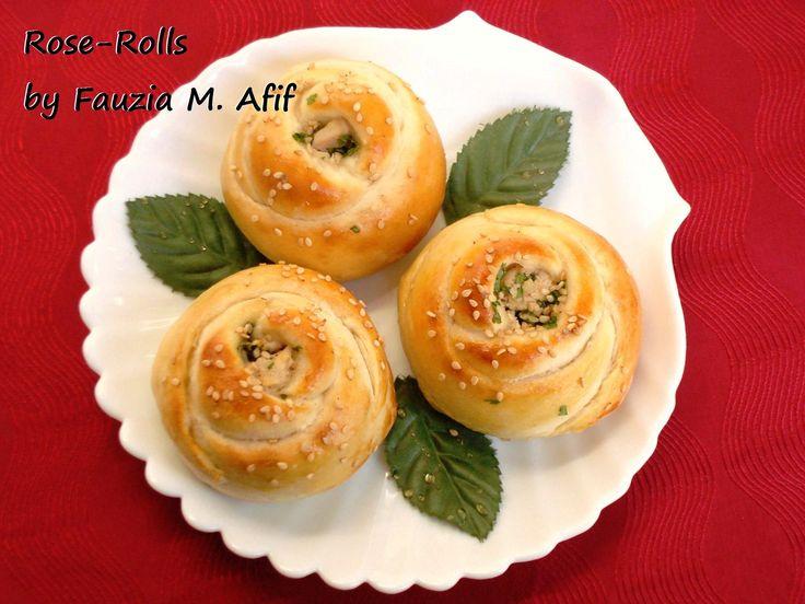 Rose Rolls | Fauzias Kitchen Fun