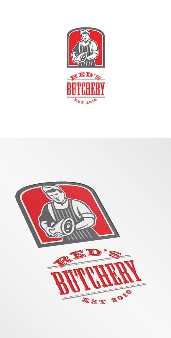Red's Butchery Logo by patrimonio on @creativemarket