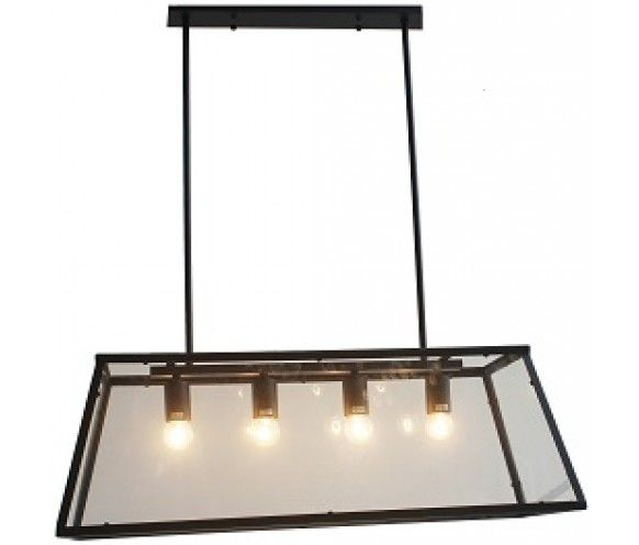 4 Light Matt Black Pendant Light