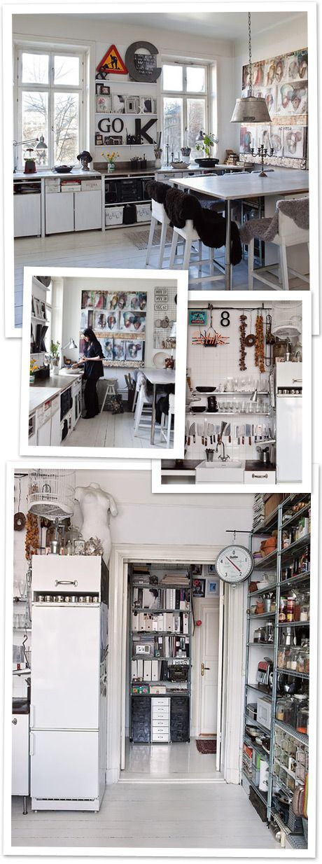 like industrial vibe in small space #kitchen