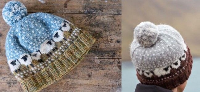 "♥ FREE Knitting Pattern ~ The official 2015 Shetland Wool Week ""Baa-ble Hat"" knitting pattern exclusively designed by Wool Week patron Donna Smith. Pattern includes suggested color variations. Shetland Wool Week is a world renowned celebration of Britain's most northerly native sheep. ♥"