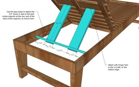 DIY plans for outdoor Chaise Lounge