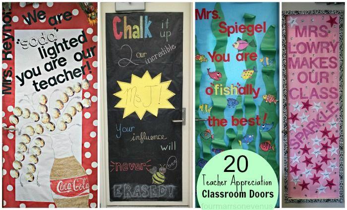 Teacher Appreciation: 20 ideas for decorating classroom doors  #teacherappreciationideas  #doors
