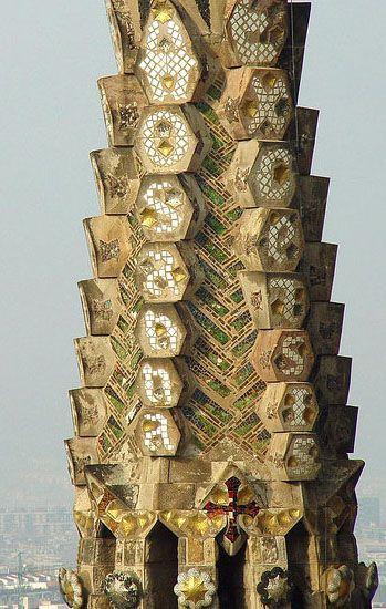 La Sagrada Familia - tower detail                              …