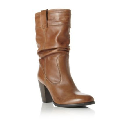 Dune REIGATE - Slouch Heeled Leather Calf Boot