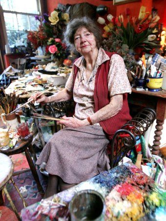 "Margaret Olley - Australian artist. I love her quote about having a messy home ... ""I don't clean up, I just buy more flowers"""