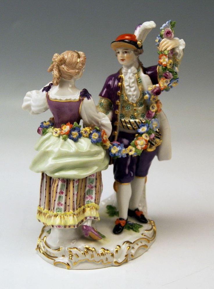 Details zu MEISSEN FIGUR TANZPAAR GÄRTNER GRUPPE DANCING GARDENER COUPLE MNR…