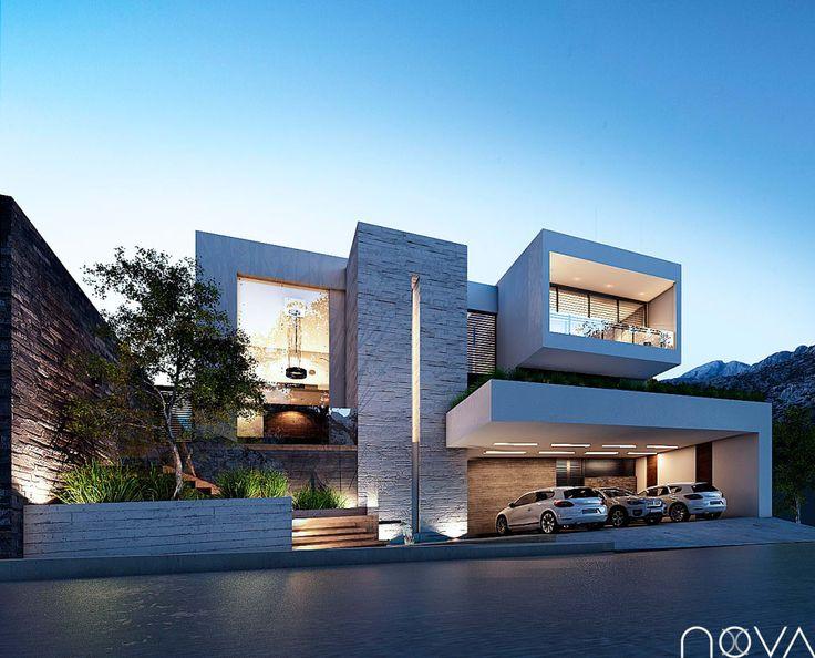 Busca imágenes de diseños de casas estilo moderno fachada principal encuentra las mejores fotos