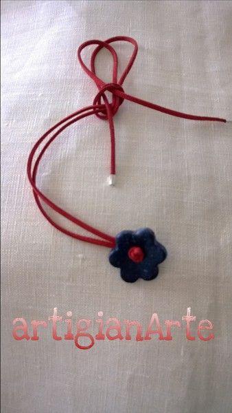 collana fiorita di artigianArte su DaWanda.com