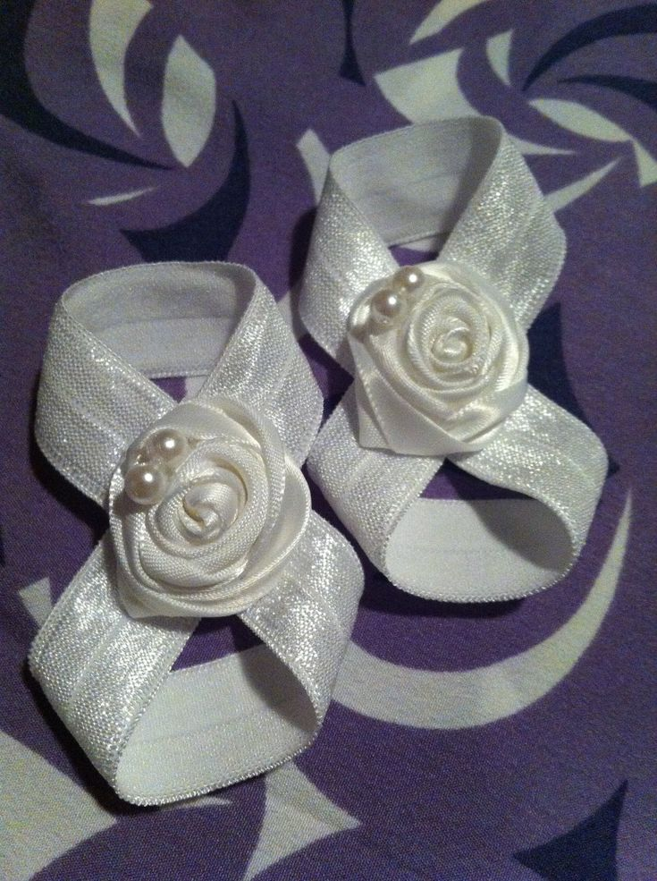 Satin Barefoot Sandals - for the baby's baptism