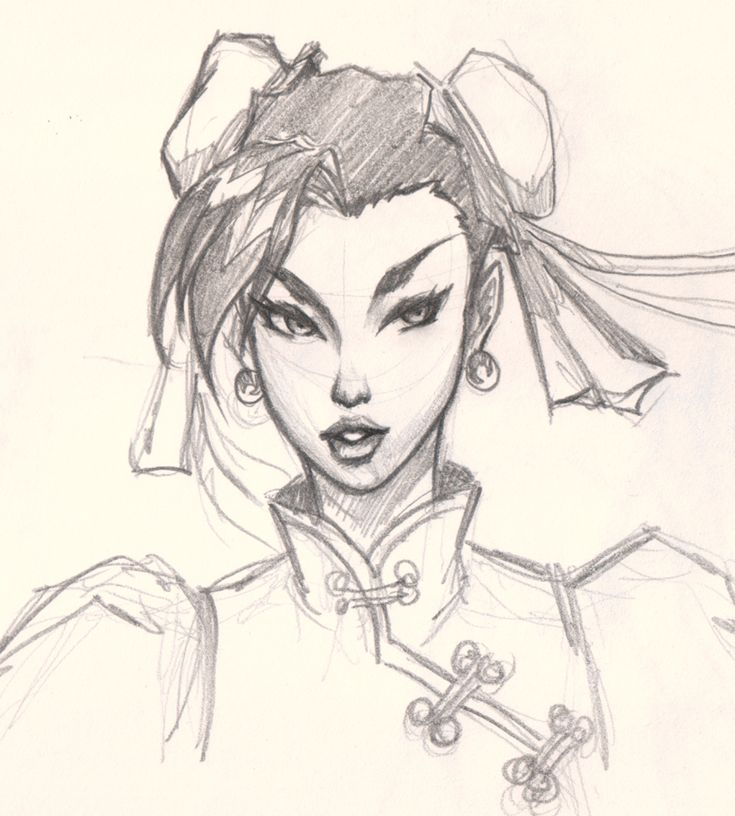 Drawing Chun Li Face How To Draw