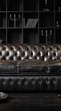 Love the chesterfield #DARK www.Chesterfields1780.com #chesterfields1780 #furniture #interiors #Chesterfields