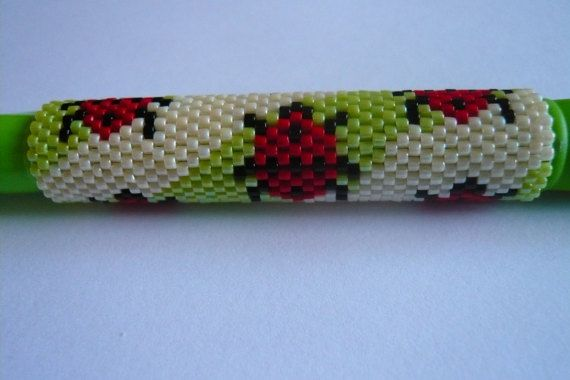 Hey, I found this really awesome Etsy listing at https://www.etsy.com/uk/listing/246011663/ladybug-even-count-peyote-pen-cover