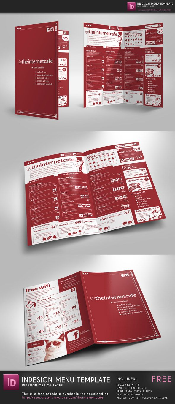 @theinternetcafe – InDesign Template Free, edit freely, CS4+