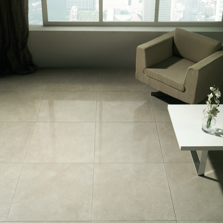 how to add shine to ceramic tile
