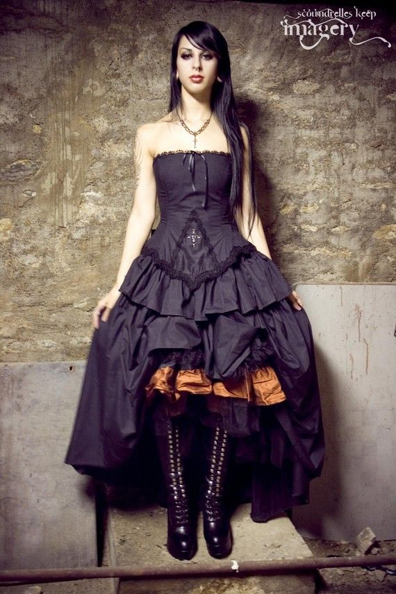 Steampunk Lolita DressWedding Dressses, Steampunk Fashion, Halloween Costumes, Lolita Dress, Gothic Wedding, Gothic Lolita, Black Cotton, Gothic Dress, Black Wedding Dresses