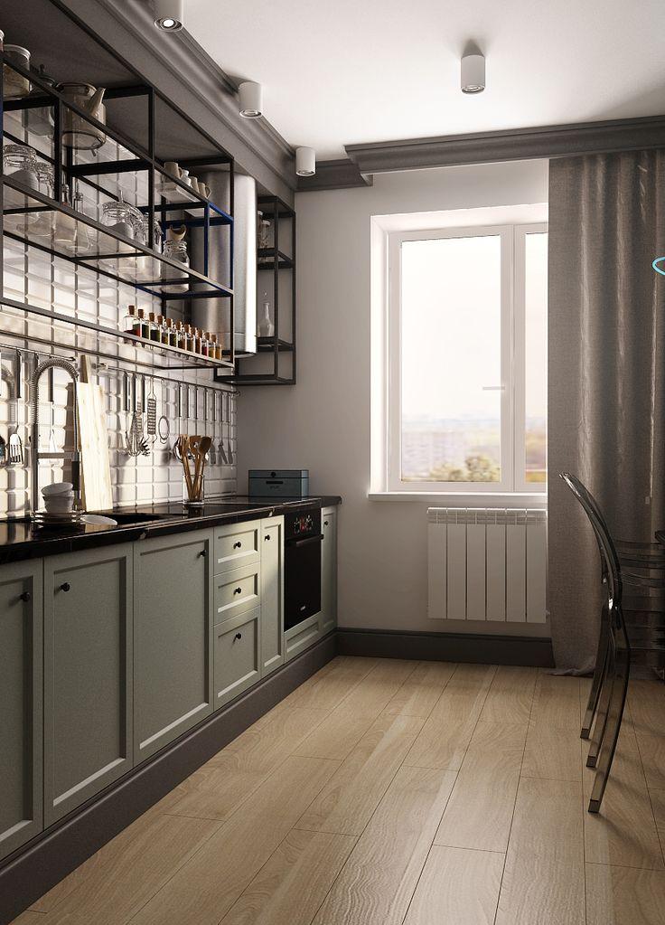 Small kitchen design Kiev Дизайн маленькой кухни