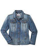 Jeansjacke mit Used-Effekten - blue denim | sheego XXL-Mode