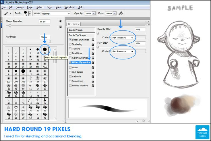 wacom bamboo tablet how to use pressure for opacity