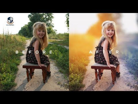 Photoshop Tutorial | How to Edit Outdoor Portrait | ( Blur & Color Background ) - YouTube