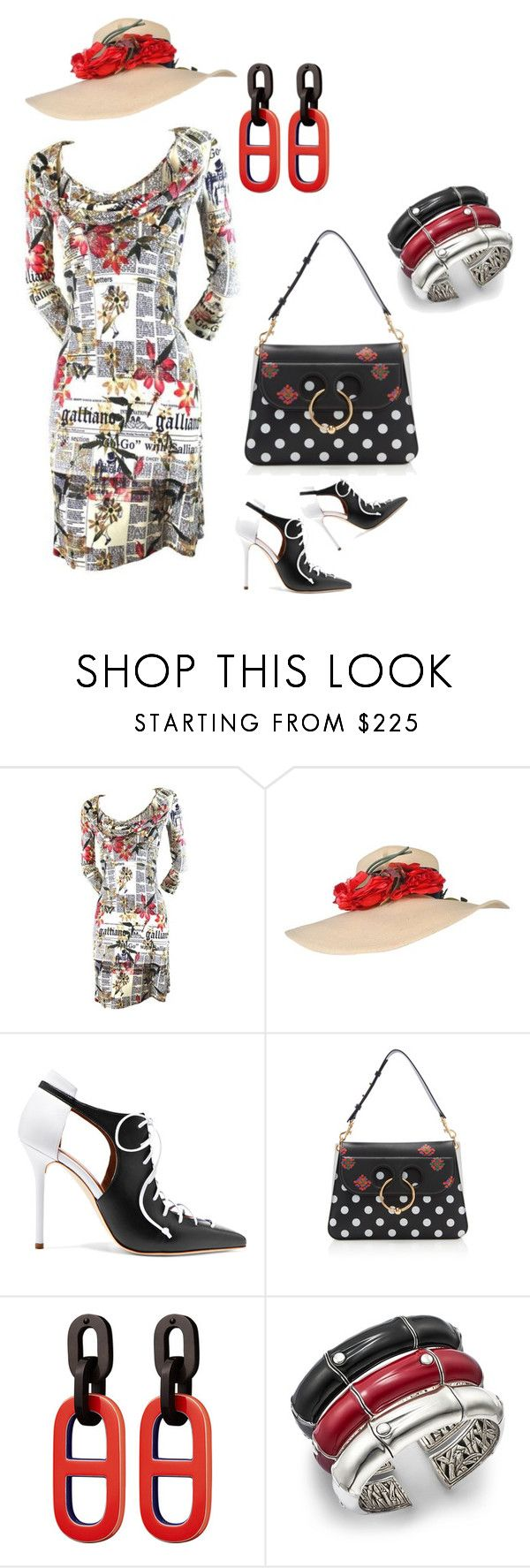 """""""Southern Chic"""" by dlc18424 ❤ liked on Polyvore featuring John Galliano, Malone Souliers, J.W. Anderson and John Hardy"""