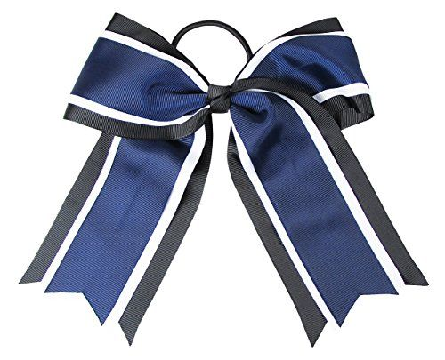 Cheerleading Hair Bows and Big Hair Bows. Great for pony tails and buns.  Lots of colors. Click thru to see.
