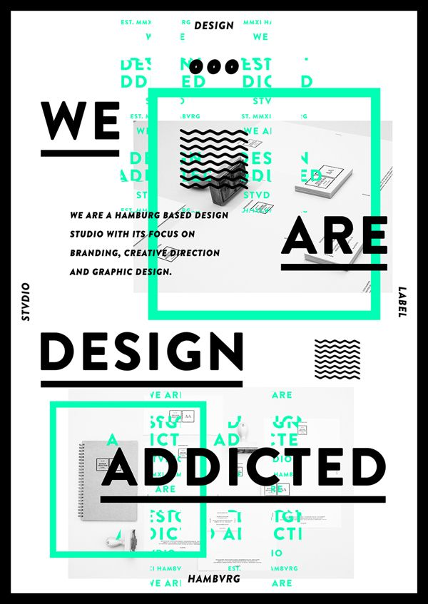 DESIGNADDICTED . DESIGN STVDIO HAMBVRG / FREE POSTER by DESIGNADDICTED , via Behance