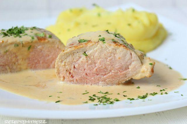 Rezepte mit Herz ♥: Schweinefilet Sous Vide mit Pfefferrahmsoße und Kartoffel - Püree
